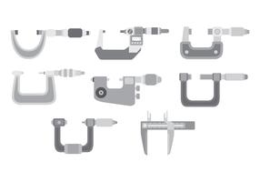 Micrometer Icon Set