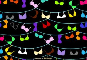 Vector Seamless Bra And Bustiers Pattern