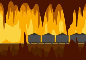 Mine Cavern Free Vector