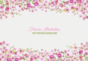 Free Vector Painted Pink Blossom Background