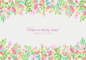 Free Vector Colorful Watercolor Card With Flowers