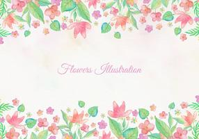 Free Vector Card With Watercolor Floral Frame Design