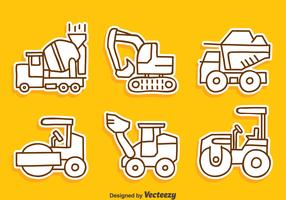 Sketch Contruction Machine Collection Vector