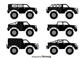 Offroad Suv Car Collection Vector