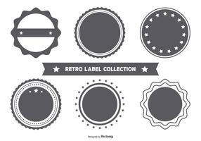 Blank Retro Style Badge Collection