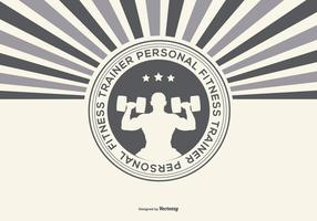 Retro Personal Fitness Trainer Illustration