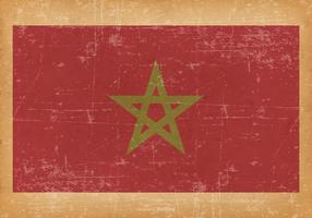Grunge Flag of Morocco