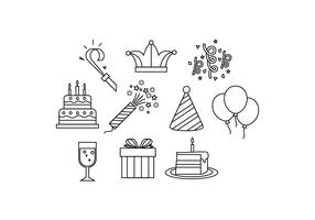Free Party Line Icon Vector