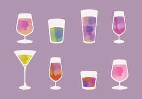 Watercolor Vector Cocktails