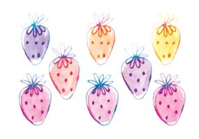 Vector Hand Drawn Strawberries