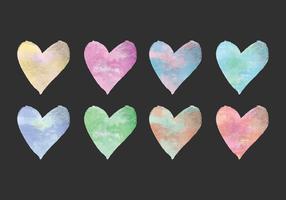 Vector Watercolor Hearts