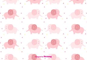 Girly Baby Elephant Pattern