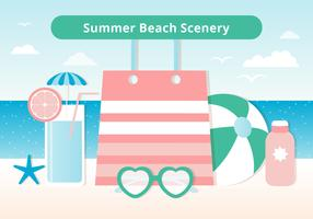 Free Design Vector Summer Time Scenery