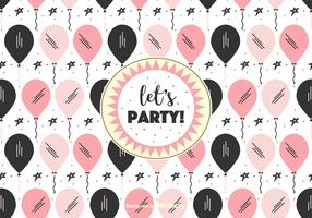 Let's Party Vector Background