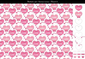 Pattern set heart with bonus icons - 3