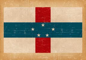 Grunge Flag of Netherlands Antilles