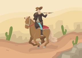 Horseman Cavalry Vector Illustration