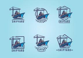 Shipyard Emblem Logo Set