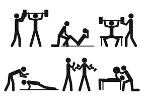Personal Trainer vector set