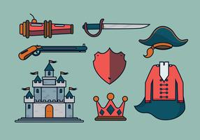 Museteer Items Vector Illustration