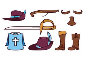 Musketeer Icon Set