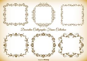 Decorative Calligraphic Vector Frames Collection