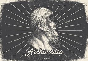 Vintage Illustration of Archimedes