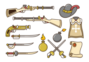 Musketeer Icons Vector