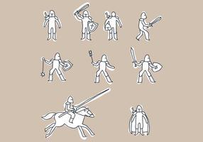Set Of Cavalry Doodles