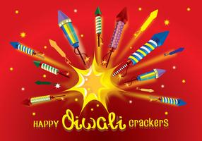 Diwali Fire Crackers Rocket Vector
