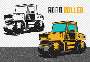 Road Roller Vector Illustration