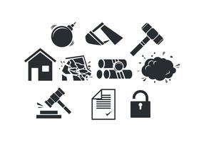 Free Demolition Sillouette Icon Vector