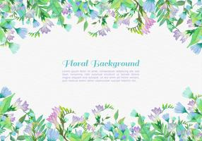 Free Vector Painted Flowers Background