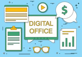 Free Flat Design Vector Digital Office Icons