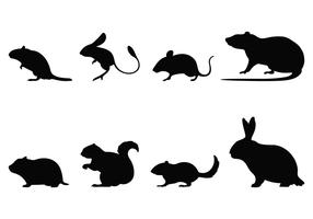 Rodent Silhouettes