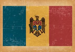 Grunge Flag of Moldova
