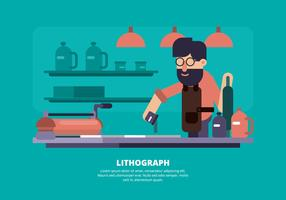 Lithograph Illustration