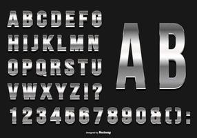 Glittery Silver Alphabet Collection