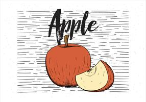 Free Vector Hand Drawn Apple Illustration