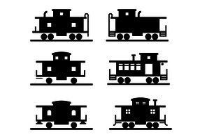 Black Caboose Icon Vector