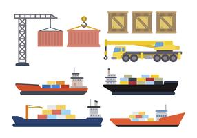 Flat Shipping Logistic Vectors