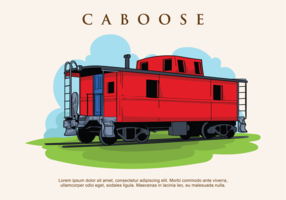 Caboose Vector Illustration