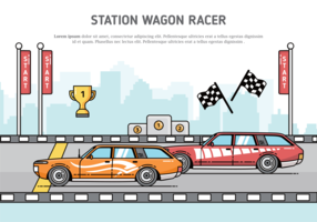 Station Wagon Vector Illustration