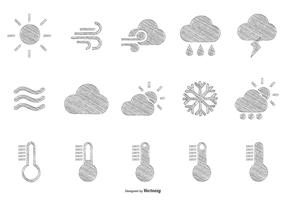 Sketchy Hand Drawn Style Weather Icons