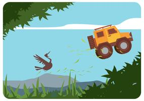 Crazy Offroad Car Vector