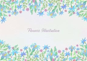 Free Vector Blue Watercolor Floral Background