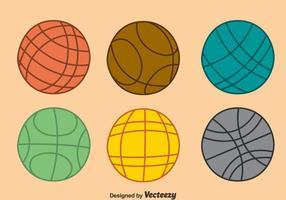 Bocce Ball Collection Vector