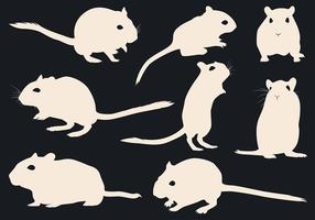 Gerbil Silhouette Free Vector