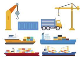 Flat Shipping Vectors