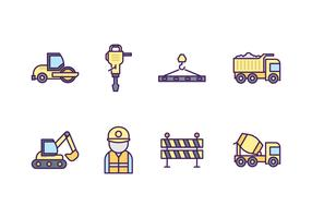 Free Road Construction Icon Set